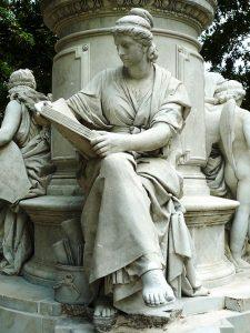 Goethe-memorial in Berlin, de Fritz Schaper. Vue partielle : Allégorie de la science. (auteur image : Manfred Brückels - licence CC BY-SA 3.0)
